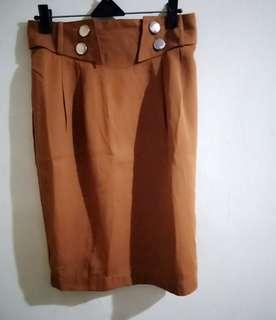 Free ongkir Brown skirt