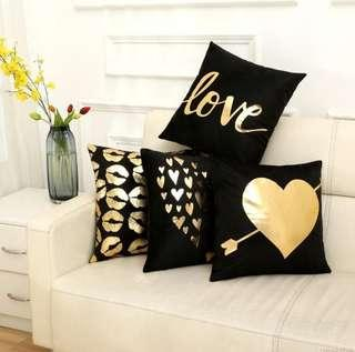 ✔ In Stock Black & Gold Series Cushion Cover