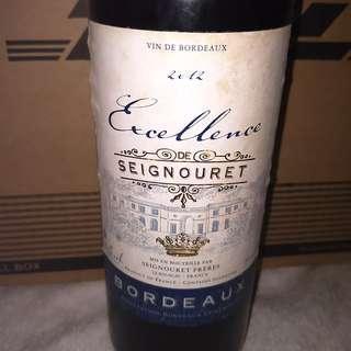 Vin De Bordeaux Excellence de Seignouret 2012, 750ml