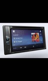 """New Set with installation AVH-G115DVD In-Dash Double-DIN DVD Multimedia AV Receiver with 6.2"""" WVGA Touchscreen Display, and Certain Android Phones"""