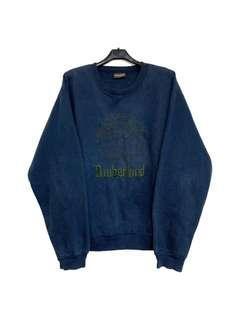 🚚 古著Timberland經典logo深藍色大學T