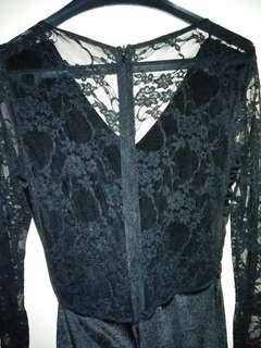 Long Dress Black Widow