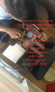 Metro Manila Price Low Aircon Cleaner and Service Repair Charging Freon w/ Survey Installations and Relocations
