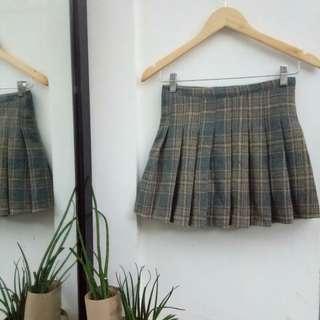 Plaid Tennis Skirt Size 25