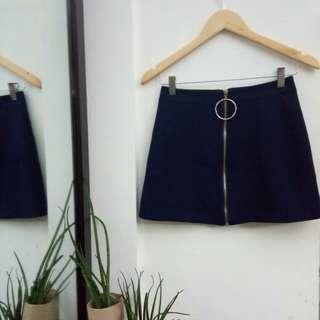 Zip-up A-line Ring Skirt
