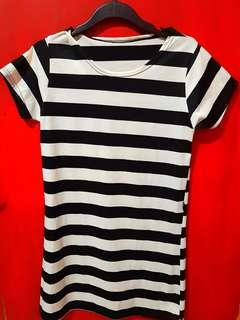 Mini Dress Stripe Black&White