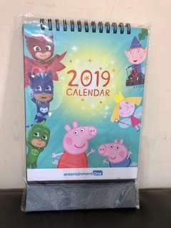 Peppa Pig & PJ masks 2019座枱月曆 (特別版)