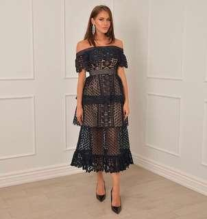 Brand new Navy/Nude Lace Dress - Similar to Self Portrait - sizes Small + Medium - PRE ORDER