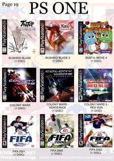 PS ONE GAMES ( RM 10 per cd ) NOT ORIGINAL