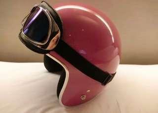 Pink Motorbike Scooter Helmet