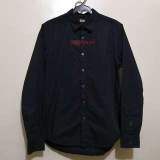 C336 - izzue Rare Embroidered Privileged Buttoned-up Shirt