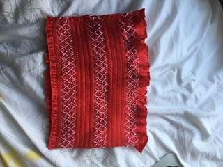 Red Frilly Tube Top