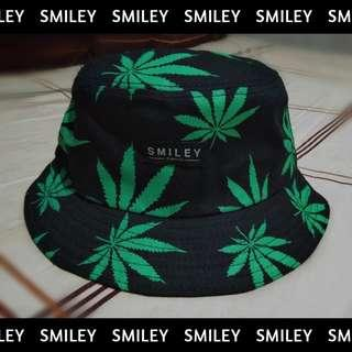 Topi Bucket Hat Weed Smiley Original