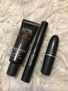 MAC Bundle Prep + Prime CC , Light Boost, Taupe Lipstick