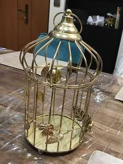 Gold bird cage for deco