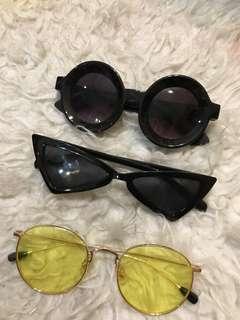 Sunglasses kekinian hits 3pcs