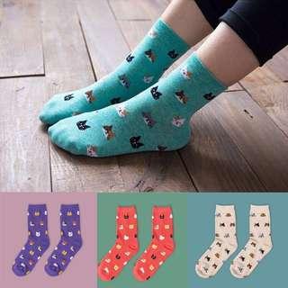 Cat Friends Crew Socks