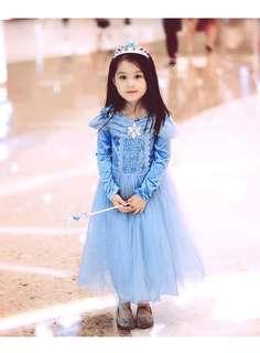 🚚 Instock Princess dress Girls Dress Frozen Elsa Dress