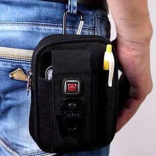 🚚 Instock Swiss Mens Waist Bag Hook Bag Wallet Cigarette Pen Holder Zipper Pouch
