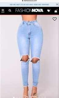 Blue Dream High Rise Jeans-Light Blue Wash
