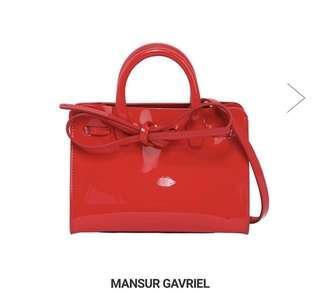 全新連吊牌包裝 MAUSUR GAVRIEL紅色漆皮Mini Mini Sun bag 2019新款