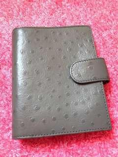 Planner - Genuine Ostrich leather A7/pocket size