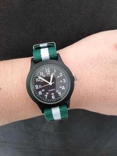 $19/$22 : Used Watch (36mm) - Green-White Colour