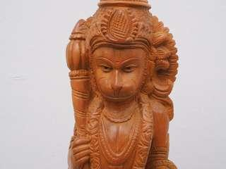 Hanuman wood carving 35cm tall - handmade, beautiful