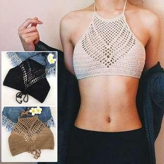 Knitted bikini top