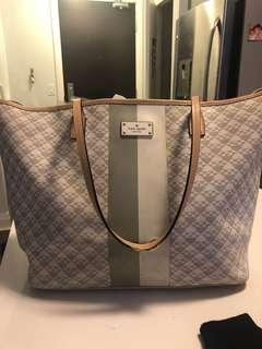 Kate spade tote, white and grey