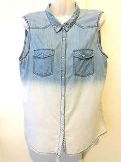 Padini Authentic Ombré Blue Denim Sleeveless Shirt #MakeSpaceForLove