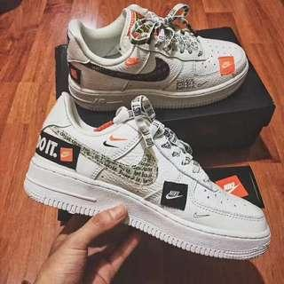 Nike Air force 1 just do it (GS)with box 36.5