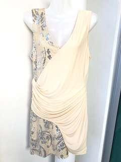 Chase7 Cream Sequined Drape Dress #MakeSpaceForLove