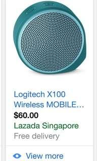 Wireless speaker Logitech sealed x100