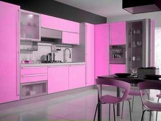 Kitchen Set minimalis pink collor