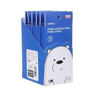 MINISO We Bare Bears Pore Strips