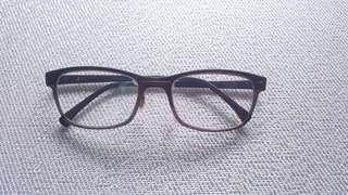 Kacamata (Glasses) Light Frame Brown (W)