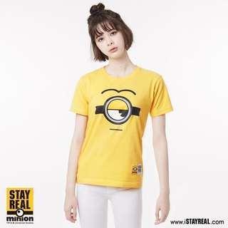 Stayreal x Minions 小黃人看三小小兵t-shirt