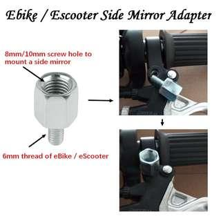 🚚 Side Mirror Adapters Screw for eBike / eScooter