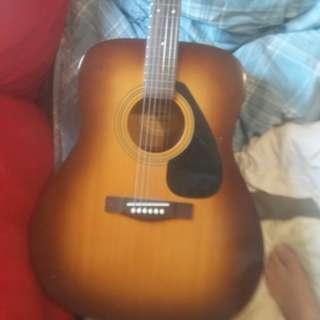 Yamaha acoustic guitar music instrument musical barely used