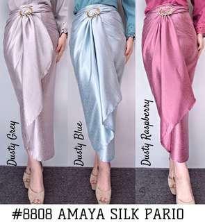 Skirt pario silk plain