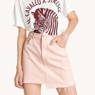 Pink denim skirt (lebih murah dr toko)