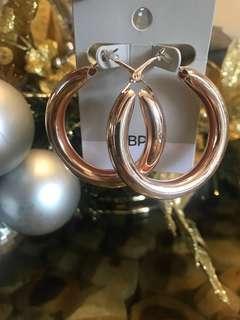 BP. rose gold hoop earrings