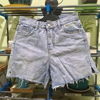 Highwaist Maong Shorts