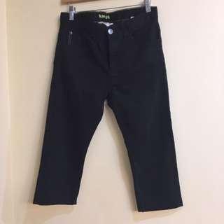 H&M Boys Slim Leg (Altered to Crop) Stretch Black Pants