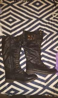 MILITARY KNEE HIGH BOOTS NEW