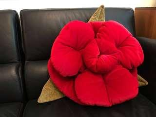 Limited edition large red rose cushion (imported)