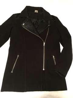 H&M Divided Faux Leather Accent Jacket