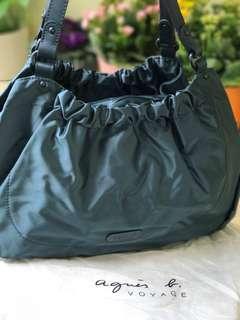 Authentic Agnes B Shoulder Bag in teal