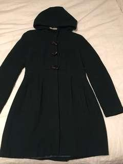 Trafaluc Green Coat Zara